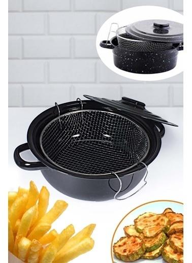 Kitchen Love Emaye Fritöz Tenceresi-Siyah Siyah